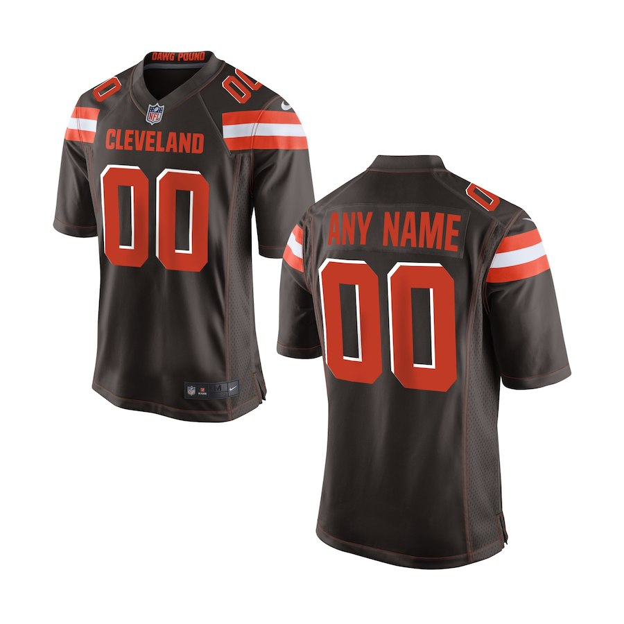 Youth Cleveland Browns Nike Brown Custom Game NFL Jersey