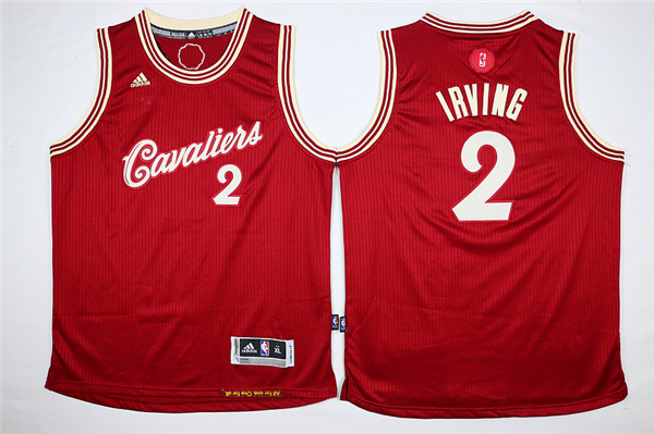 Youth Cleveland Cavaliers 2 Irving Red Game Nike NBA Jerseys