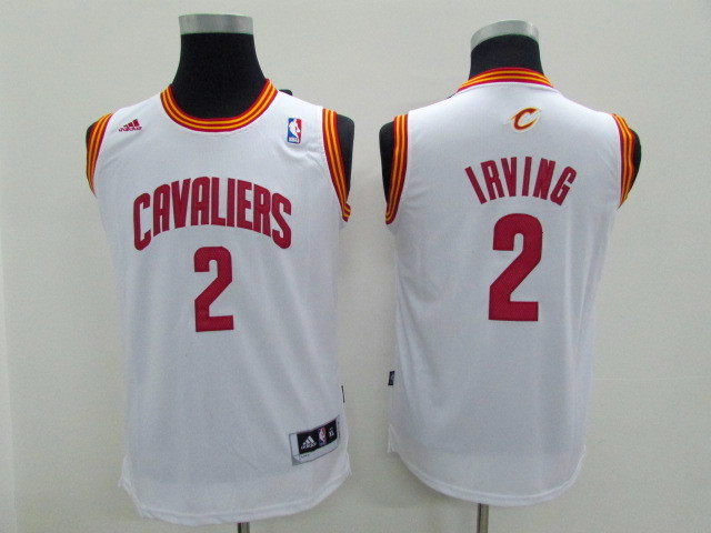 Youth Cleveland Cavaliers 2 Irving white Game Nike NBA Jerseys