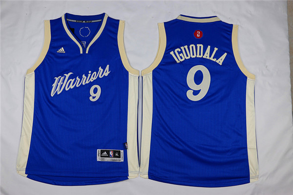 Youth Golden State Warriors 9 Iguodala blue Game Nike NBA Jerseys
