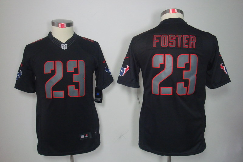 Youth Houston Texans 23 Foster black Nike NFL Jerseys