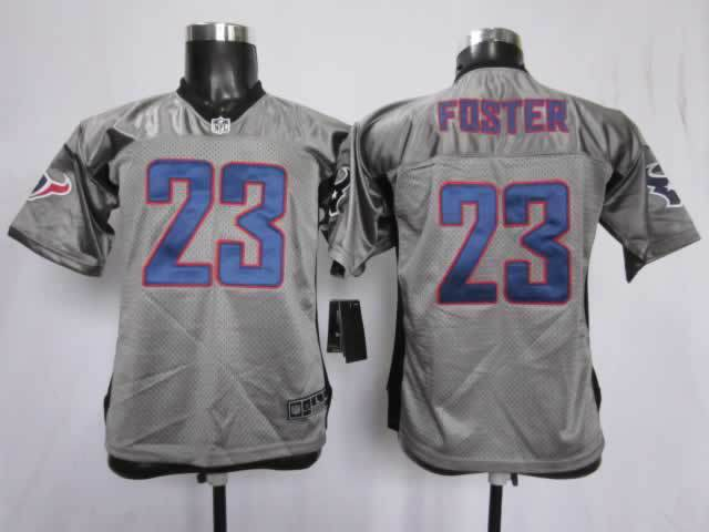 Youth Houston Texans 23 Foster grey Nike NFL Jerseys
