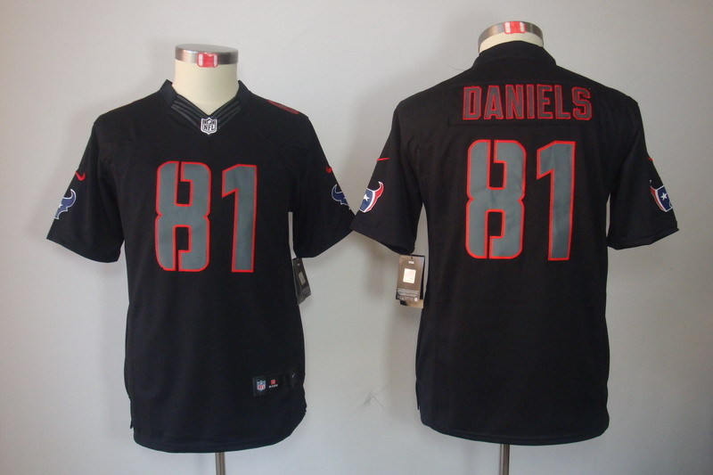 Youth Houston Texans 81 Daniels black NFL Jerseys
