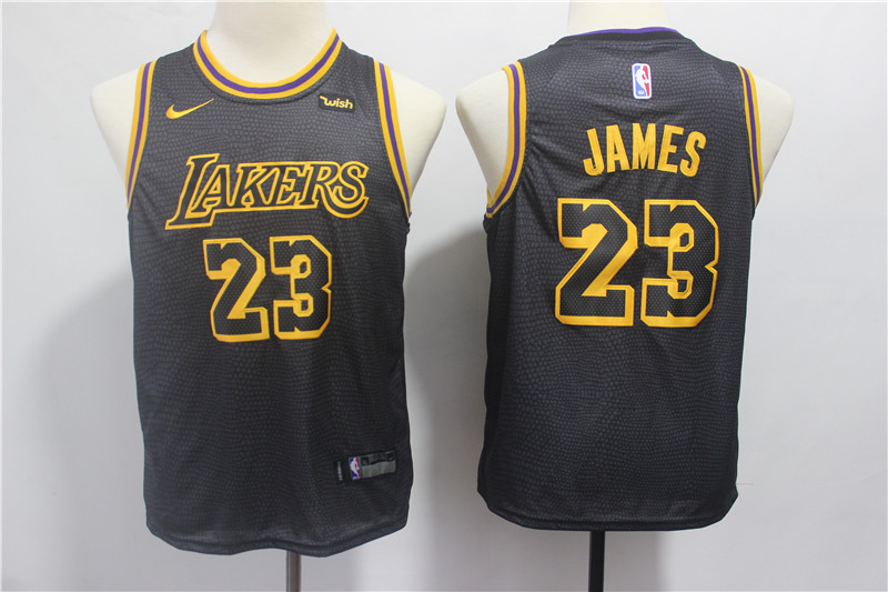 Youth Los Angeles Lakers 23 James black Nike NBA Jerseys
