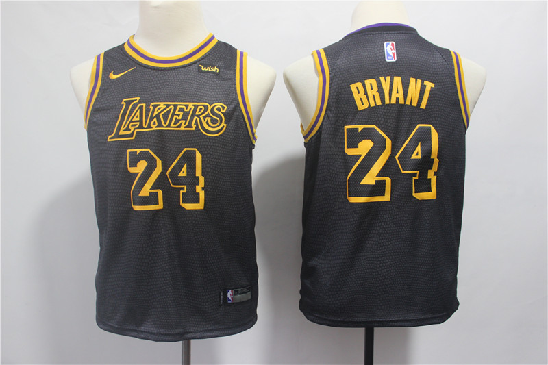 Youth Los Angeles Lakers 24 Bryant black Nike NBA Jerseys