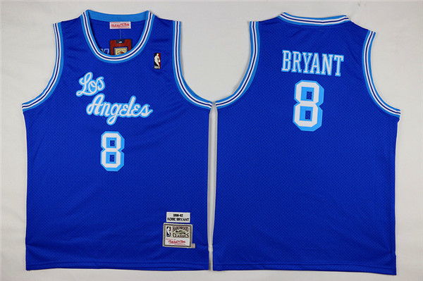 Youth Los Angeles Lakers 8 Bryant light blue Nike NBA Jerseys