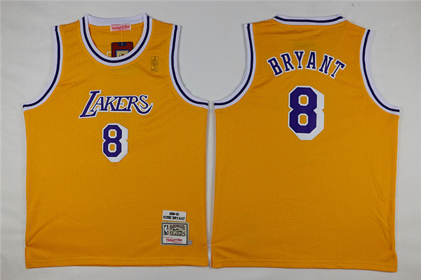 Youth Los Angeles Lakers 8 Bryant yellow Nike NBA Jerseys
