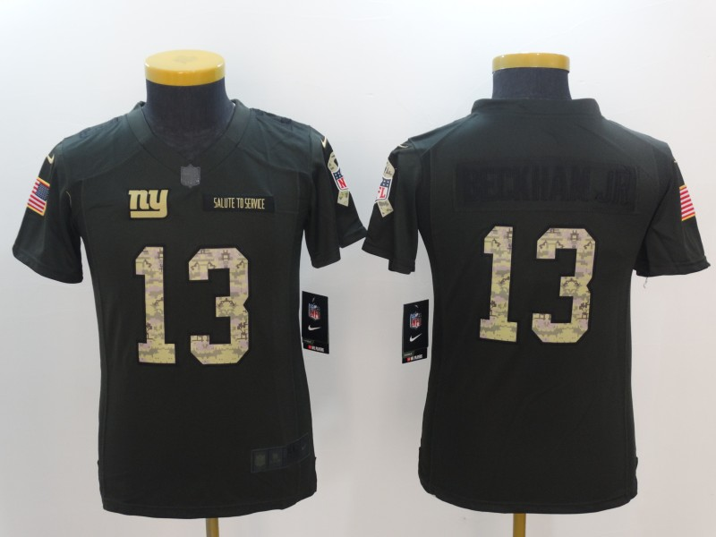 Youth New York Giants 13 Beckham Jr Nike Salute To Service Limited NFL Jerseys