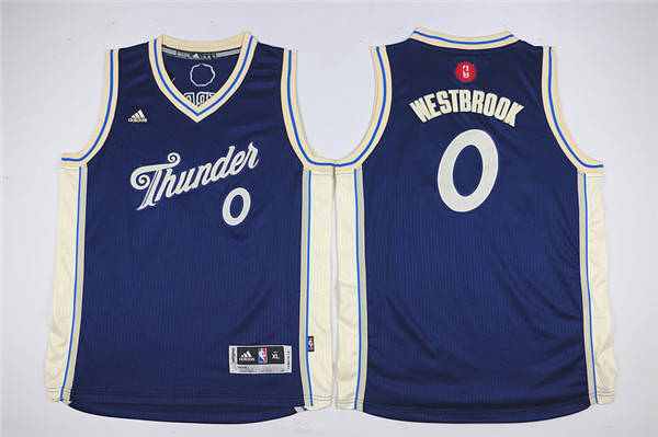 Youth Oklahoma City Thunder 0 Westbrook blue Game Nike NBA Jerseys