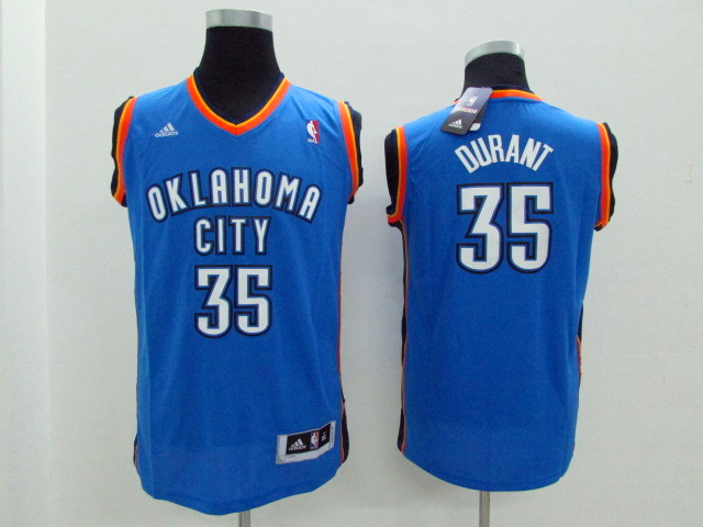 Youth Oklahoma City Thunder 35 Durant light blue Game Nike NBA Jerseys