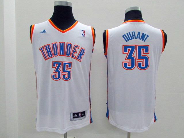 Youth Oklahoma City Thunder 35 Durant white Game Nike NBA Jerseys