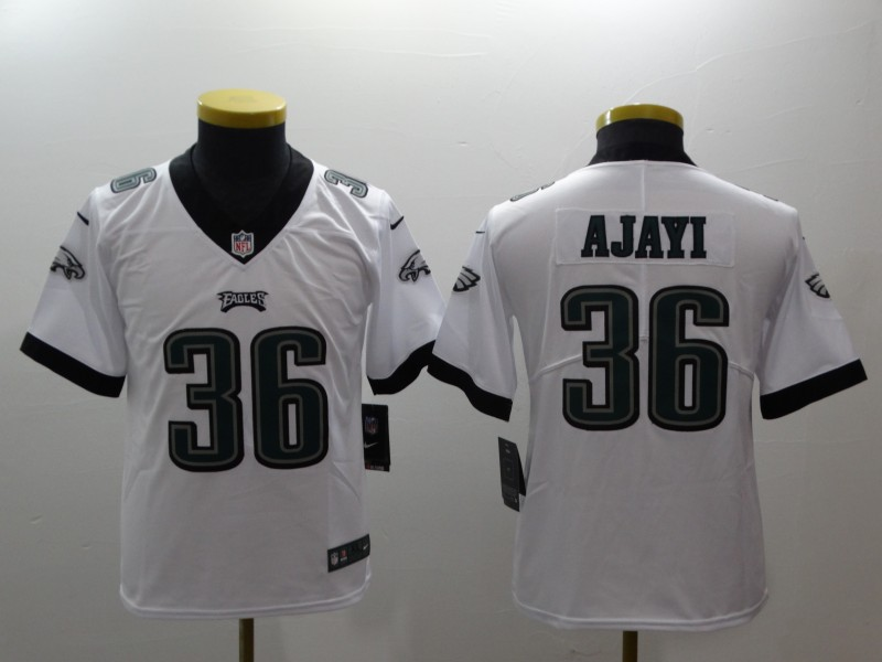 Youth Philadelphia Eagles 36 Ajayi white Nike NFL jerseys