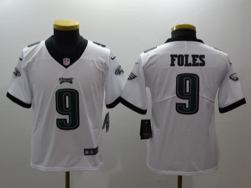 Youth Philadelphia Eagles 9 Foles white Nike NFL jerseys