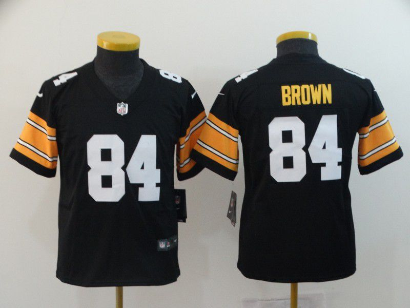 Youth Pittsburgh Steelers 84 Brown Black Nike Vapor Untouchable Limited Playe NFL Jerseys