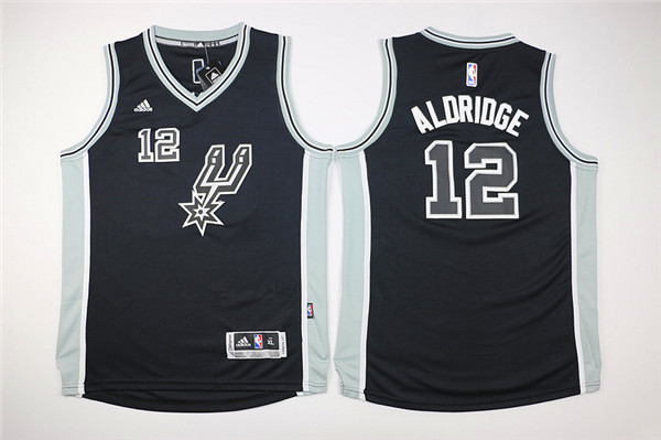 Youth San Antonio Spurs 12 Aldridge black Game Nike NBA Jerseys