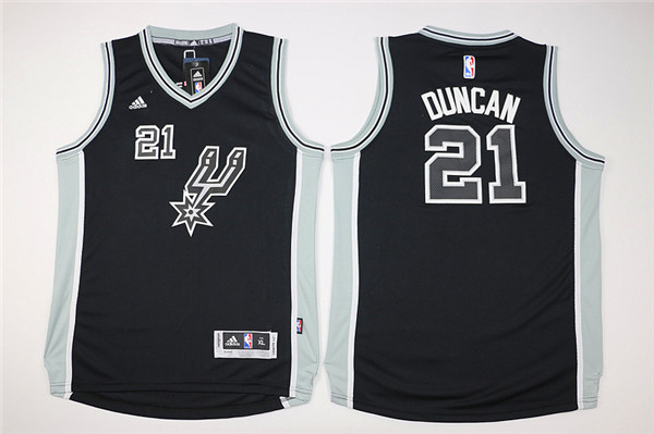 Youth San Antonio Spurs 21 Duncan black Game Nike NBA Jerseys