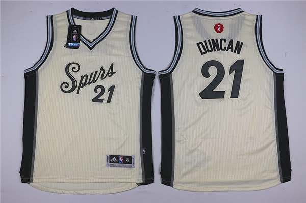 Youth San Antonio Spurs 21 Duncan white Game Nike NBA Jerseys