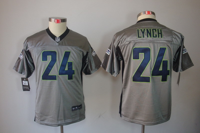 Youth Seattle Seahawks 24 Lynch grey Nike NFL jersey