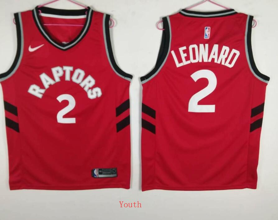 Youth Toronto Raptors 2 Leonard Red Game Nike NBA Jerseys