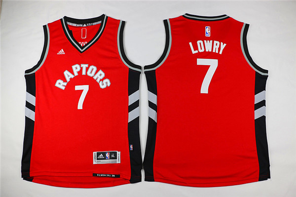 Youth Toronto Raptors 7 Lowry Red Game Nike NBA Jerseys