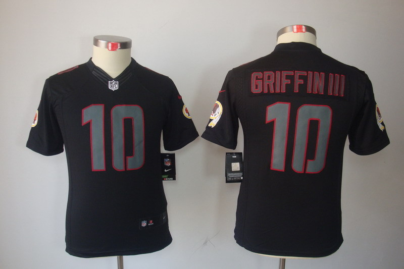 Youth Washington Redskins 10 Griffin III black Nike NFL Jerseys