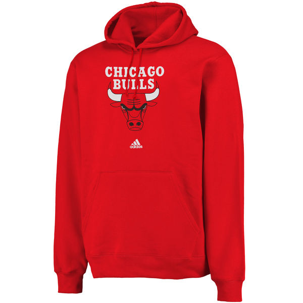 Men Chicago Bulls Logo Pullover Hoodie Sweatshirt Red