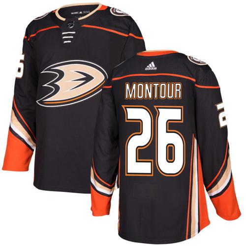 Adidas Anaheim Ducks 26 Brandon Montour Black Home Authentic Youth Stitched NHL Jersey