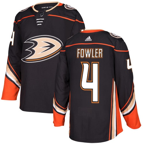 Adidas Anaheim Ducks 4 Cam Fowler Black Home Authentic Youth Stitched NHL Jersey