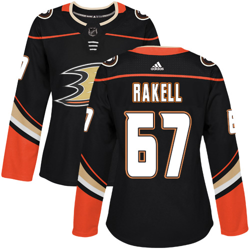 Adidas Anaheim Ducks 67 Rickard Rakell Black Home Authentic Womens Stitched NHL Jersey