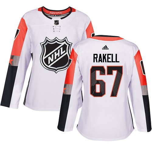 Adidas Anaheim Ducks 67 Rickard Rakell White 2018 All-Star Pacific Division Authentic Womens Stitched NHL Jersey