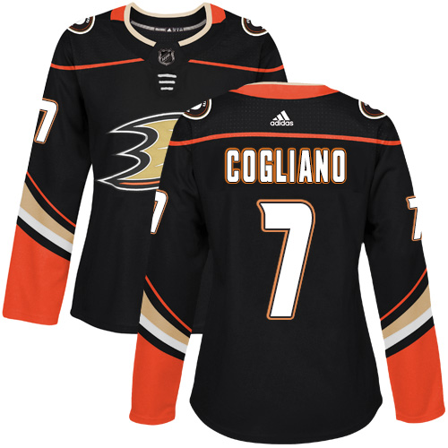 Adidas Anaheim Ducks 7 Andrew Cogliano Black Home Authentic Womens Stitched NHL Jersey