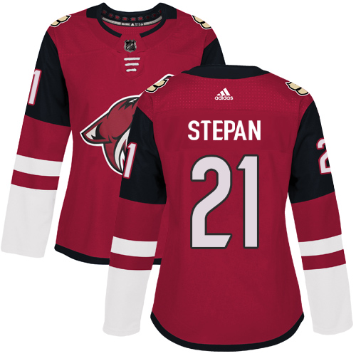 Adidas Arizona Coyotes 21 Derek Stepan Maroon Home Authentic Women Stitched NHL Jersey