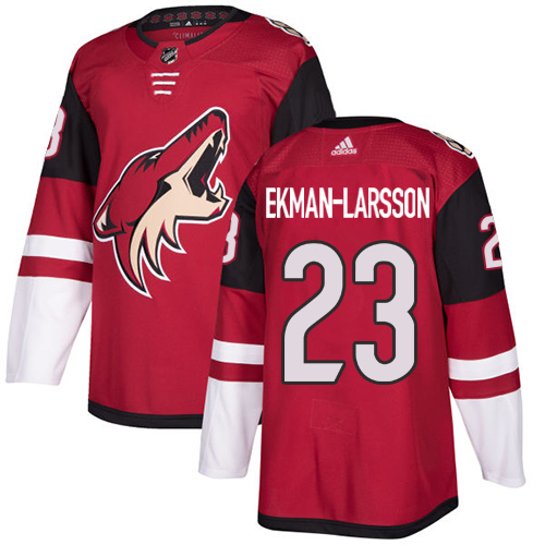 Adidas Arizona Coyotes 23 Oliver Ekman-Larsson Maroon Home Authentic Stitched Youth NHL Jersey