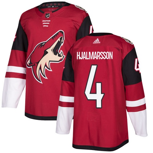 Adidas Arizona Coyotes 4 Niklas Hjalmarsson Maroon Home Authentic Stitched Youth NHL Jersey