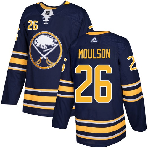 Adidas Buffalo Sabres 26 Matt Moulson Navy Blue Home Authentic Youth Stitched NHL Jersey