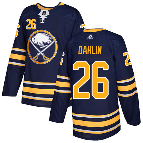 Adidas Buffalo Sabres 26 Rasmus Dahlin Navy Blue Home Authentic Youth Stitched NHL Jersey