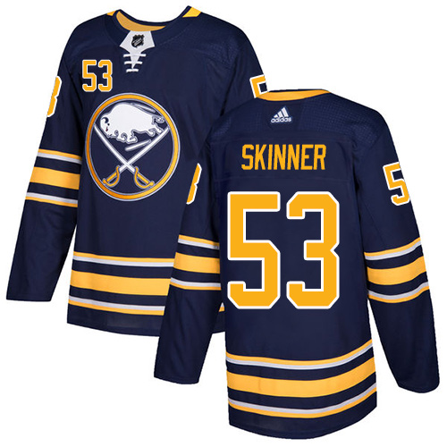 Adidas Buffalo Sabres 53 Jeff Skinner Navy Blue Home Authentic Youth Stitched NHL Jersey