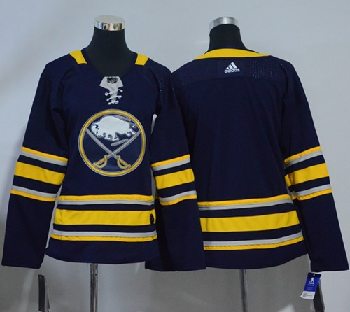 Adidas Buffalo Sabres Blank Navy Blue Home Authentic Women Stitched NHL Jersey