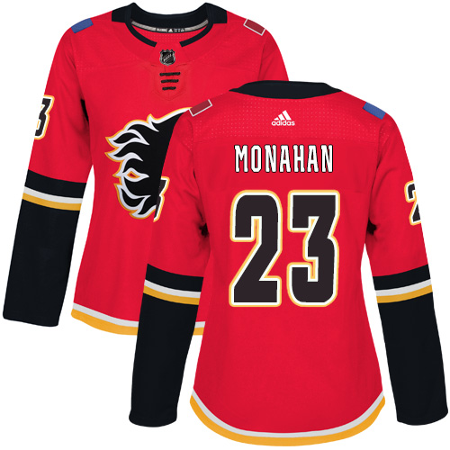 Adidas Calgary Flames 23 Sean Monahan Red Home Authentic Women Stitched NHL Jersey