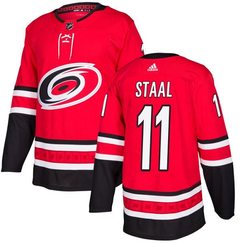 Adidas Carolina Hurricanes 11 Jordan Staal Red Home Authentic Stitched Youth NHL Jersey
