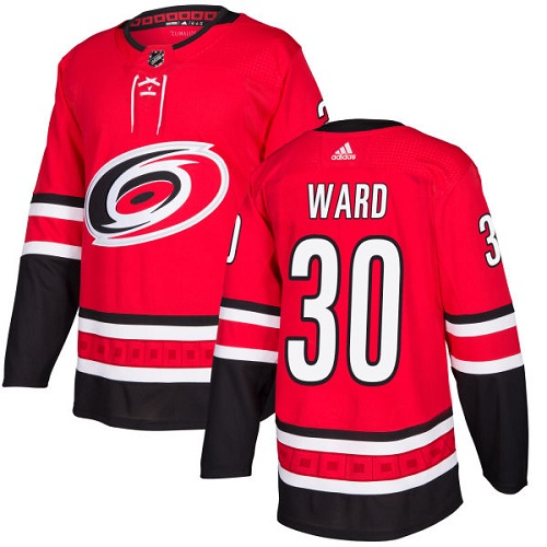 Adidas Carolina Hurricanes 30 Cam Ward Red Home Authentic Stitched Youth NHL Jersey