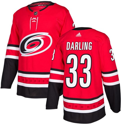Adidas Carolina Hurricanes 33 Scott Darling Red Home Authentic Stitched Youth NHL Jersey