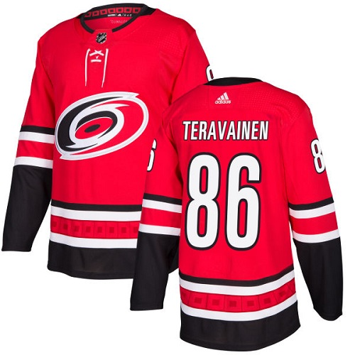 Adidas Carolina Hurricanes 86 Teuvo Teravainen Red Home Authentic Stitched Youth NHL Jersey