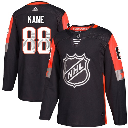 Adidas Chicago Blackhawks 88 Patrick Kane Black 2018 All-Star Central Division Authentic Stitched Youth NHL Jersey