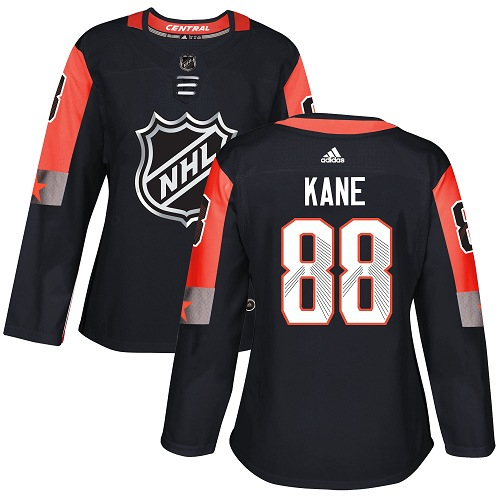 Adidas Chicago Blackhawks 88 Patrick Kane Black 2018 All-Star Central Division Authentic Women Stitched NHL Jersey