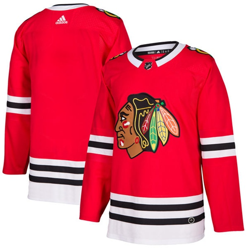 Adidas Chicago Blackhawks Blank Red Home Authentic Stitched Youth NHL Jersey