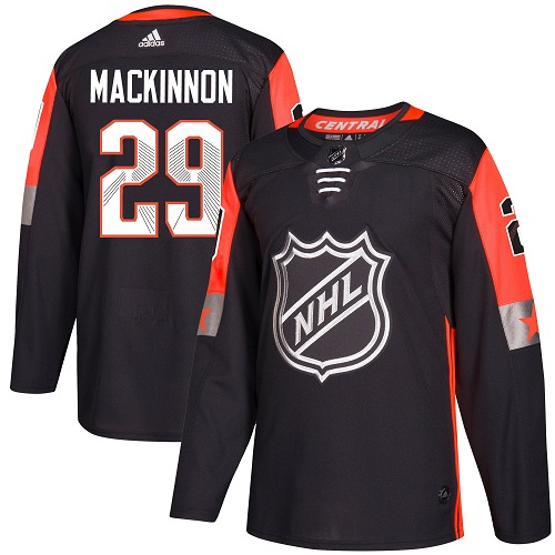Adidas Colorado Avalanche 29 Nathan MacKinnon Black 2018 All-Star Central Division Authentic Stitched Youth NHL Jersey