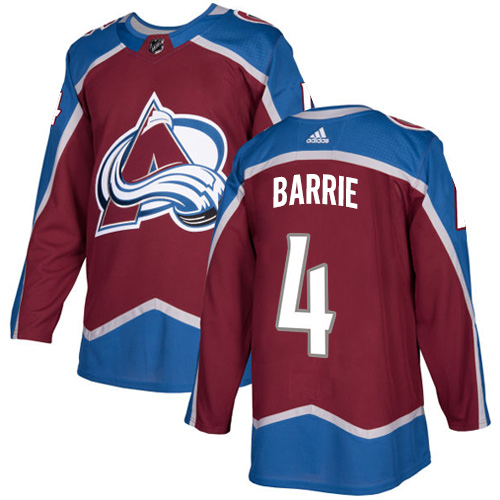 Adidas Colorado Avalanche 4 Tyson Barrie Burgundy Home Authentic Stitched Youth NHL Jersey
