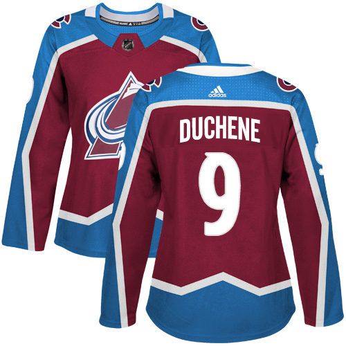 Adidas Colorado Avalanche 9 Matt Duchene Burgundy Home Authentic Women Stitched NHL Jersey
