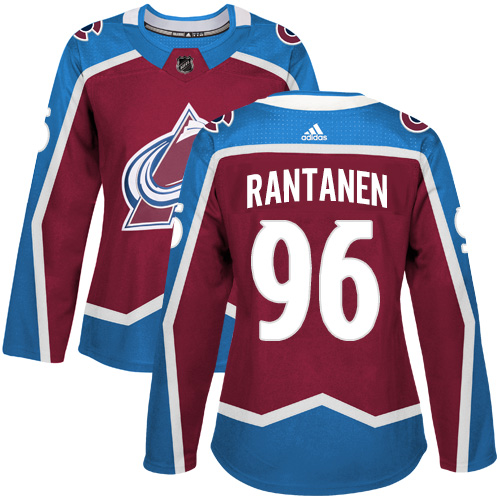 Adidas Colorado Avalanche 96 Mikko Rantanen Burgundy Home Authentic Women Stitched NHL Jersey